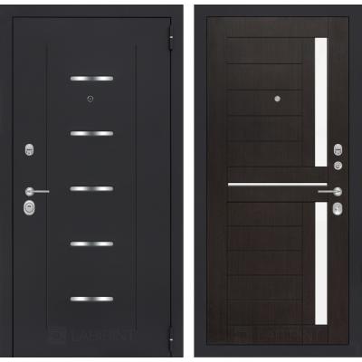 Стальная дверь Лабиринт ALFA 02 (Венге)