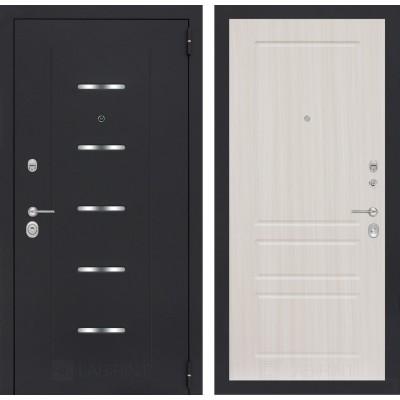 Стальная дверь Лабиринт ALFA 03 (Сандал белый)