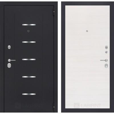 Стальная дверь Лабиринт ALFA 07 (Перламутр горизонтальный)