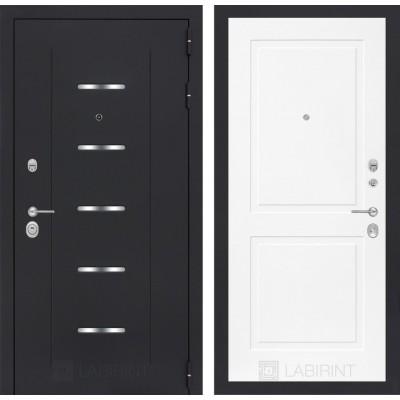 Стальная дверь Лабиринт ALFA 11 (Белый софт)