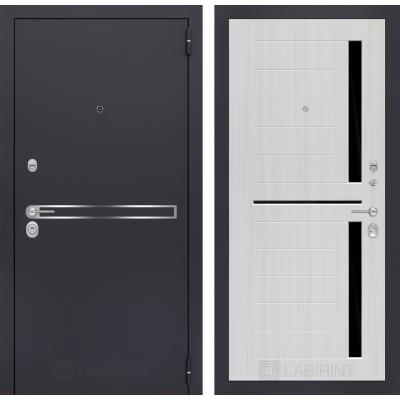 Стальная дверь Лабиринт LINE 02 (Сандал белый)