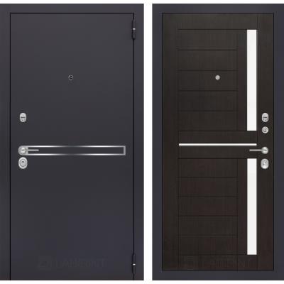 Стальная дверь Лабиринт LINE 02 (Венге)