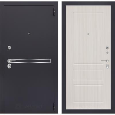 Стальная дверь Лабиринт LINE 03 (Сандал белый)