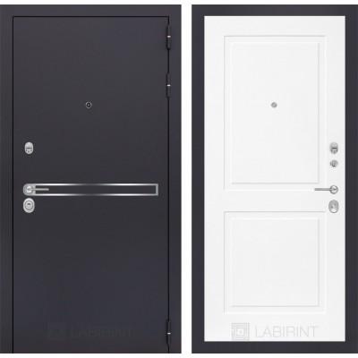 Стальная дверь Лабиринт LINE 11 (Белый софт)