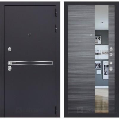 Стальная дверь Лабиринт LINE с зеркалом (Сандал серый)