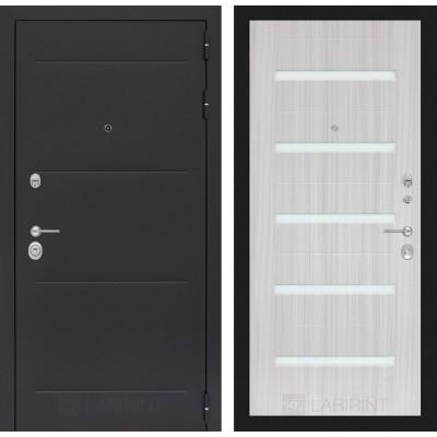 Стальная дверь Лабиринт LOFT 01 (Сандал белый)