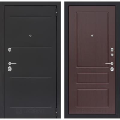 Стальная дверь Лабиринт LOFT 03 (Орех премиум)