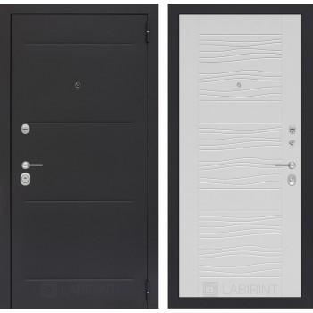 Стальная дверь Лабиринт LOFT 06 (Белое дерево)