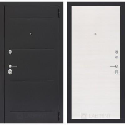 Стальная дверь Лабиринт LOFT 07 (Перламутр горизонтальный)