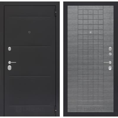 Стальная дверь Лабиринт LOFT 02 (Лен сильвер грей)