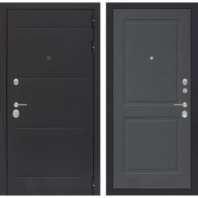 Стальная дверь Лабиринт LOFT 11 (Графит софт)