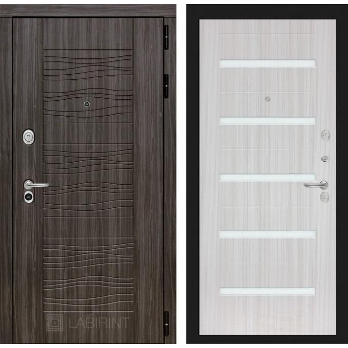 Стальная дверь Лабиринт SCANDI 01 (Сандал белый)