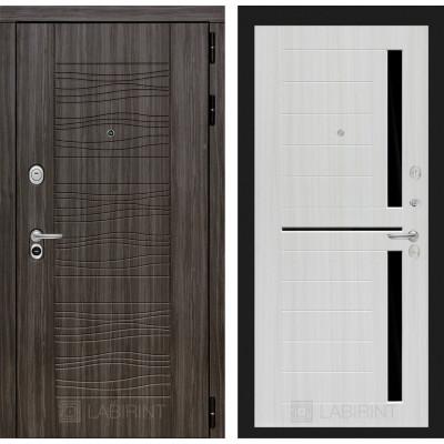 Стальная дверь Лабиринт SCANDI 02 (Сандал белый)
