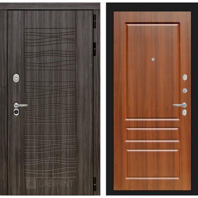 Стальная дверь Лабиринт SCANDI 03 (Орех бренди)