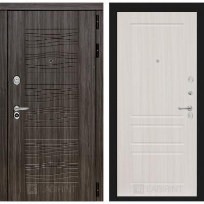 Стальная дверь Лабиринт SCANDI 03 (Сандал белый)