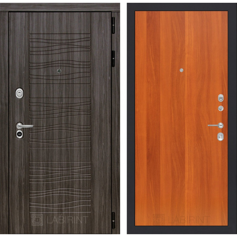 Стальная дверь Лабиринт SCANDI 05 (Итальянский орех)