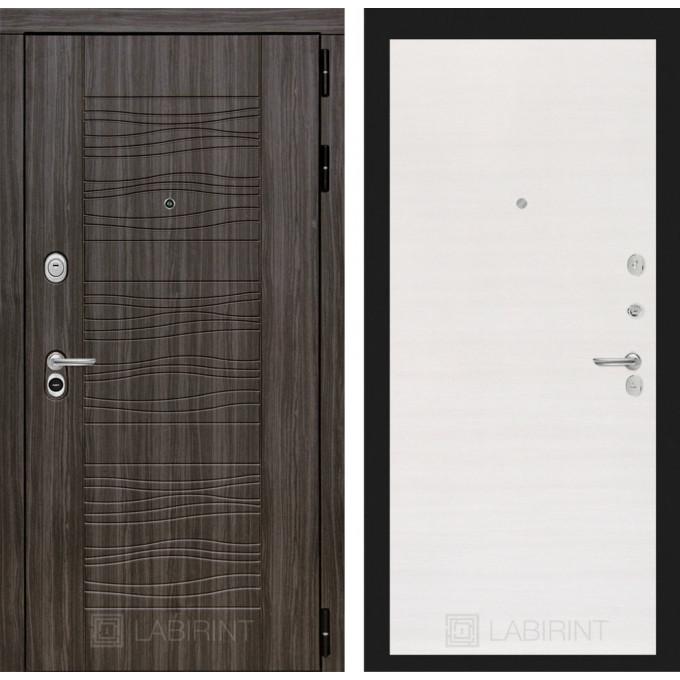 Стальная дверь Лабиринт SCANDI 07 (Перламутр горизонтальный)