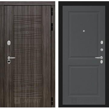 Стальная дверь Лабиринт SCANDI 11 (Графит софт)