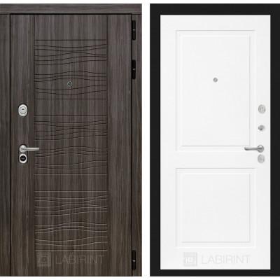 Стальная дверь Лабиринт SCANDI 11 (Белый софт)