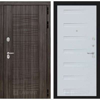 Стальная дверь Лабиринт SCANDI 14 (Дуб кантри белый)