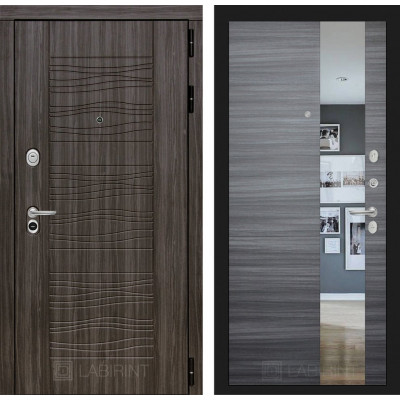 Стальная дверь Лабиринт SCANDI с зеркалом (Сандал серый)