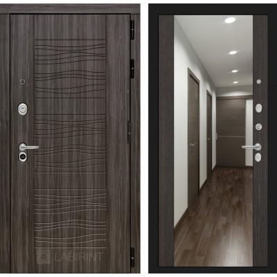 Стальная дверь Лабиринт SCANDI с зеркалом (Венге)