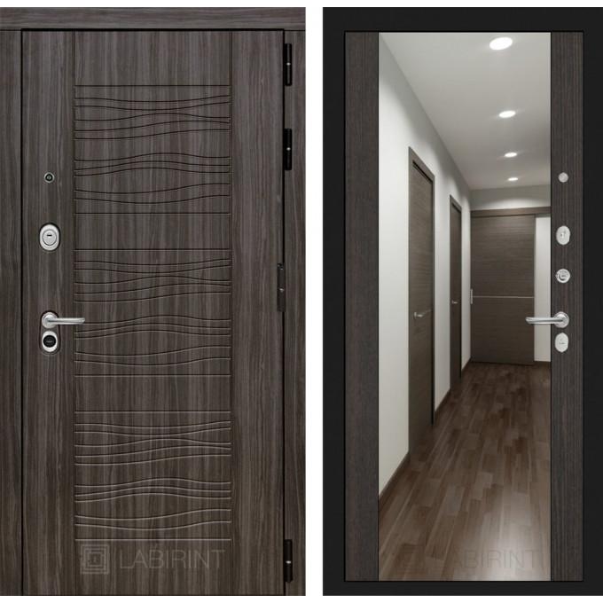 Стальная дверь Лабиринт SCANDI Максимум с зеркалом (Венге)